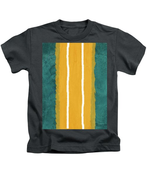 Green And Yellow Abstract Theme II Kids T-Shirt