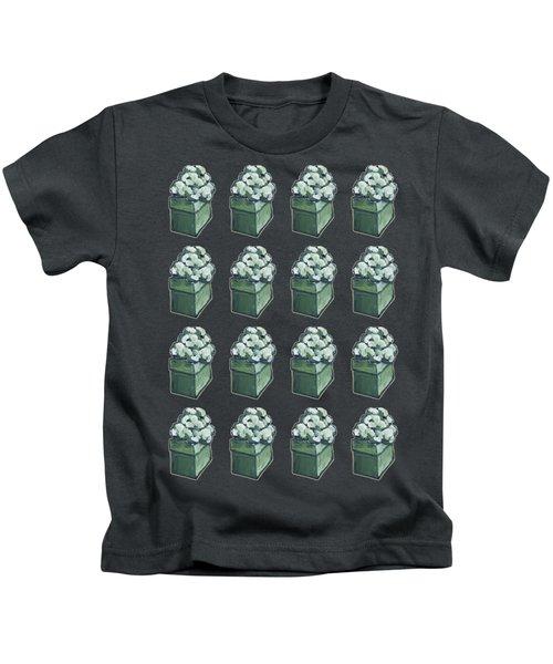 Green Present Pattern Kids T-Shirt