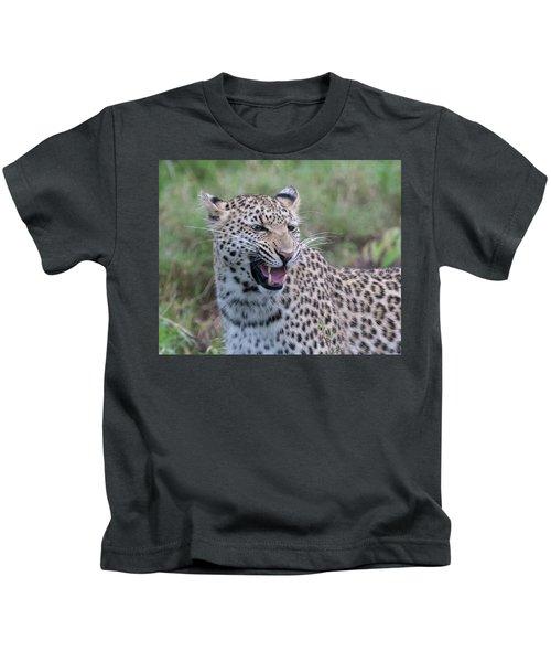 Grimacing Leopard Kids T-Shirt