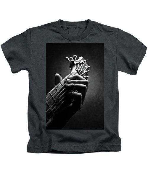 Guitarist Hand Close-up Kids T-Shirt