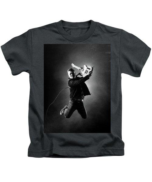 Guitarist Jumping High Kids T-Shirt