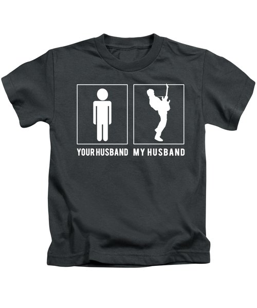 Guitarist Your Husband My Husband Tee Present Giving Occasion Kids T-Shirt