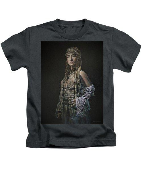 Gypsy Portrait Kids T-Shirt