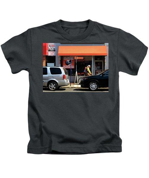 Hackensack, Nj - Orange Storefront Kids T-Shirt