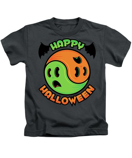 Happy Halloween Ghost Yin-yang Kids T-Shirt
