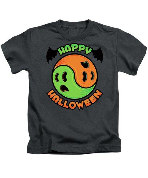 Happy Halloween Ghost Yin-yang Kids T-Shirt