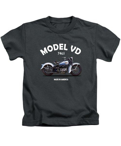 Harley Model Vd 1935 Kids T-Shirt