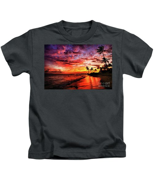 Hawaiian Sunset Kids T-Shirt