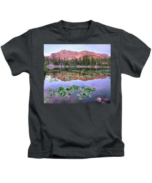 Hayden Peak And Butterfly Lake, Uinta Kids T-Shirt