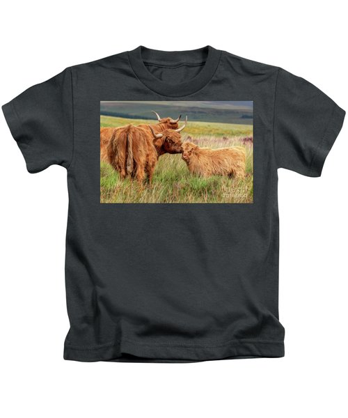 Highland Cow And Calf Kids T-Shirt