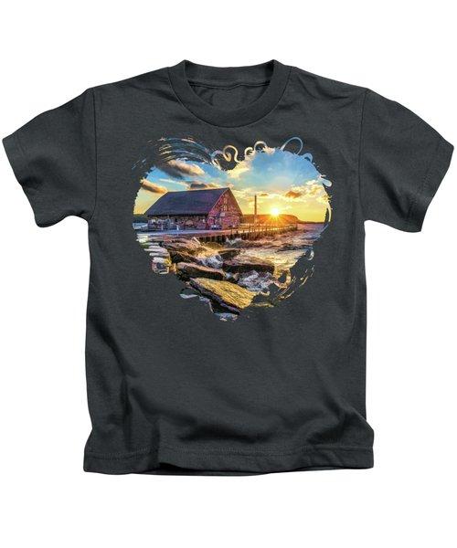 Historic Anderson Dock In Ephraim Door County Kids T-Shirt