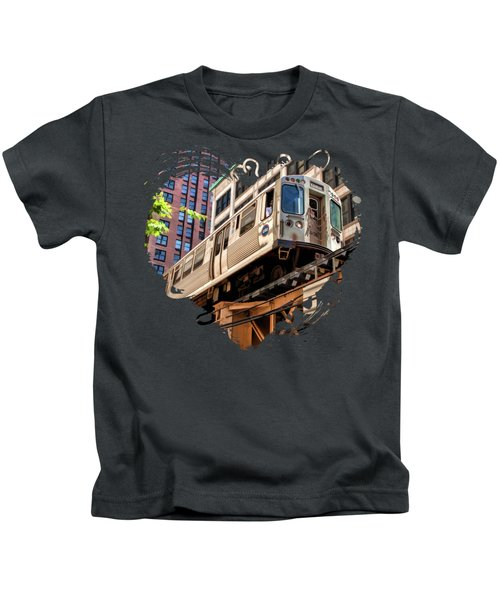 Historic Chicago El Train Kids T-Shirt