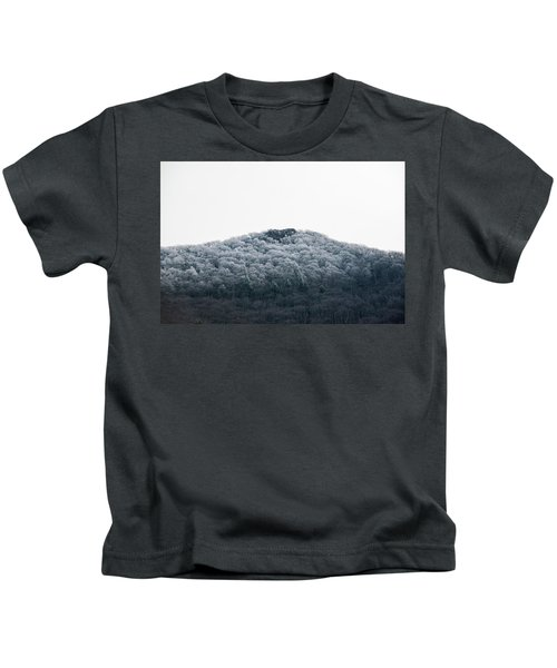 Hoarfrost On The Mountain Kids T-Shirt