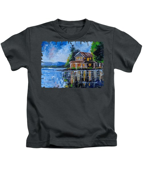 Home By The Lake Kids T-Shirt