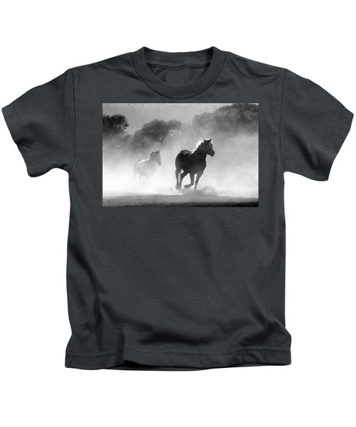 Horses On The Run Kids T-Shirt