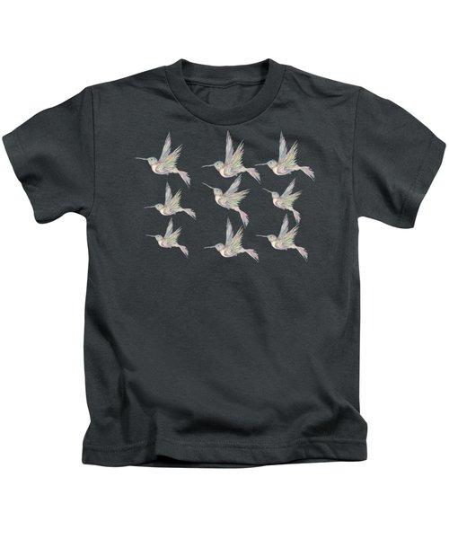 Hummingbird Pattern Kids T-Shirt