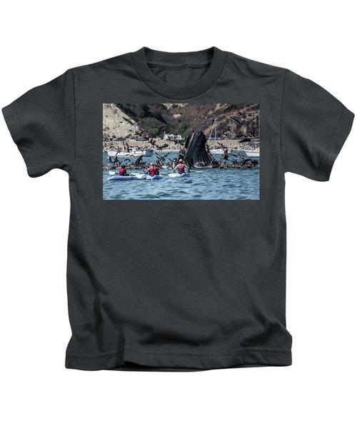 Humpbacks In Avila Harbor Kids T-Shirt