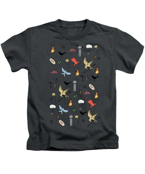 Hunger Games Quality Pattern - Black Version Kids T-Shirt