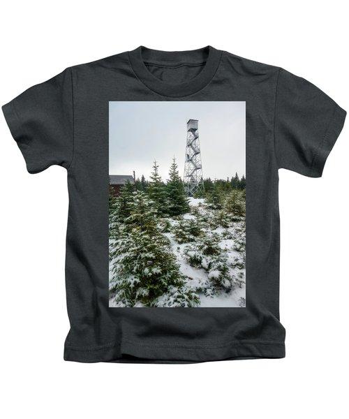Hunter Mountain Fire Tower Kids T-Shirt