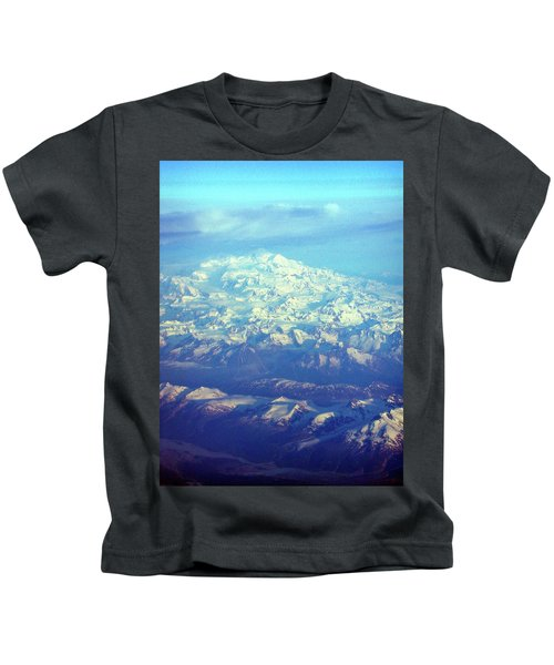 Ice Covered Mountain Top Kids T-Shirt