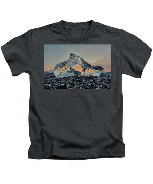 Iceland Diamond Beach Abstract  Ice Kids T-Shirt