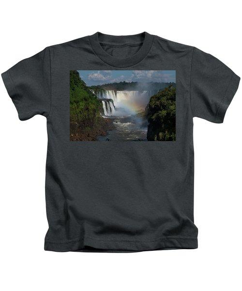 Iguazu Falls With A Rainbow Kids T-Shirt