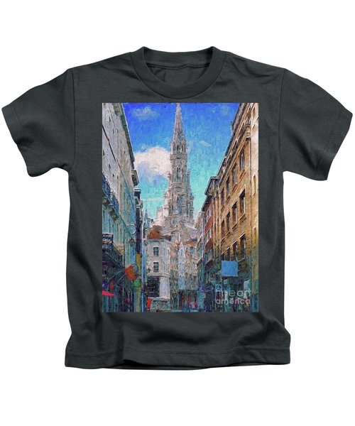 In-spired  Street Scene Brussels Kids T-Shirt