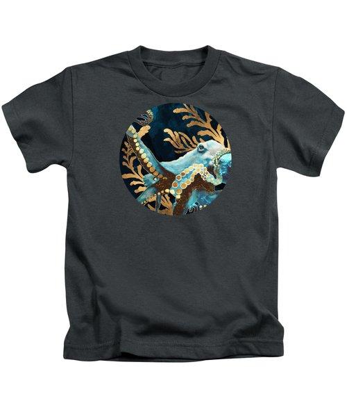 Indigo Octopus Kids T-Shirt