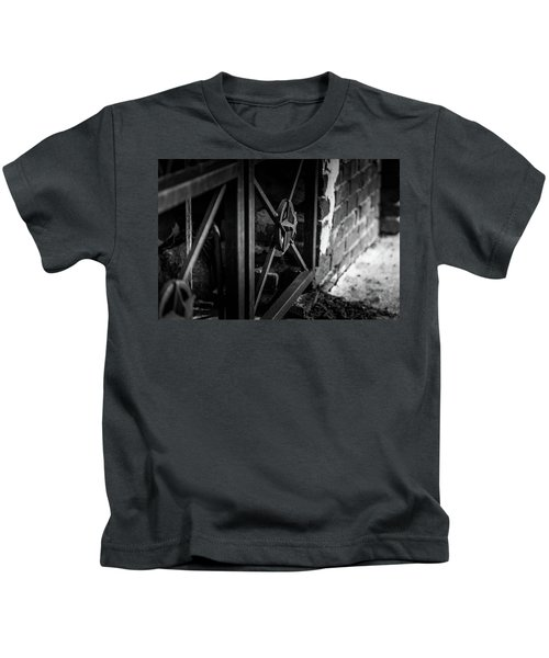 Iron Gate In Bw Kids T-Shirt
