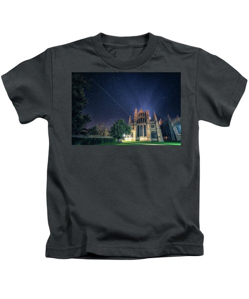 Iss Over Ely Cathedral Kids T-Shirt