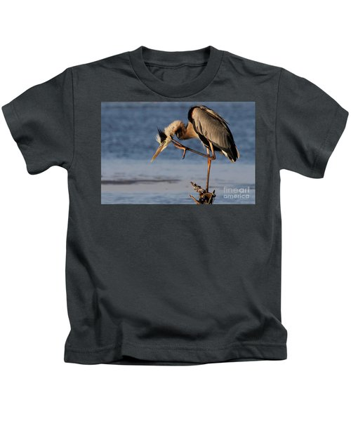 Itchy - Great Blue Heron Kids T-Shirt