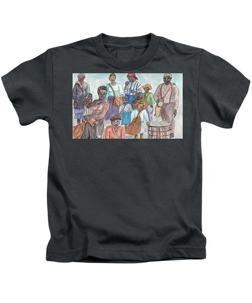 It's Cotton Picking Time At The Spangler Farm In South Alabama Kids T-Shirt