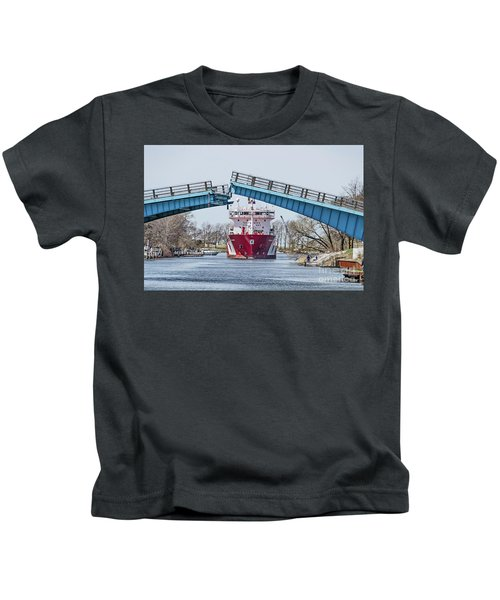 Iver Bright Tanker Visits Manistee Kids T-Shirt