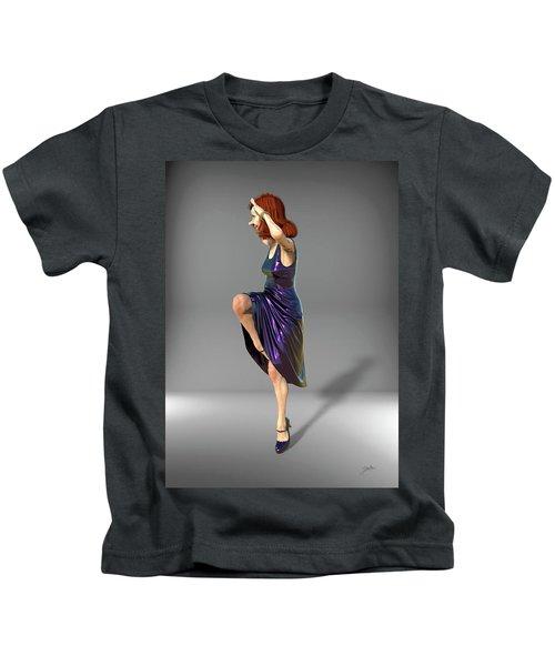 Jacinta In Navy Blue Kids T-Shirt
