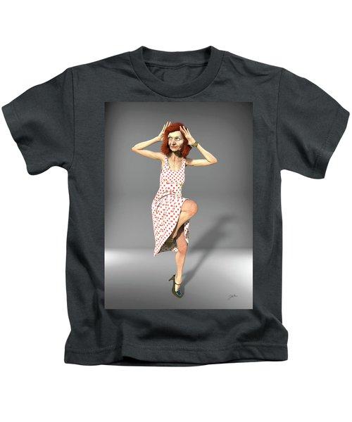 Jacinta With Polka Dots Kids T-Shirt