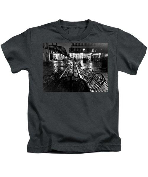 Jackson Square In The Rain Kids T-Shirt