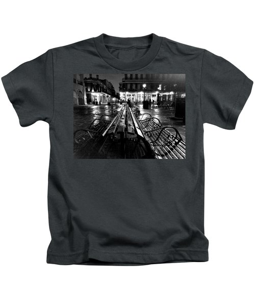 Jackson Square In The Rain Kids T-Shirt
