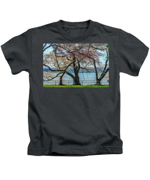 Japanese Flowering Cherry Trees Kids T-Shirt
