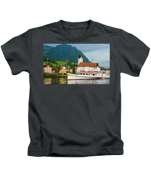 Lake Lucerne Steamer Kids T-Shirt