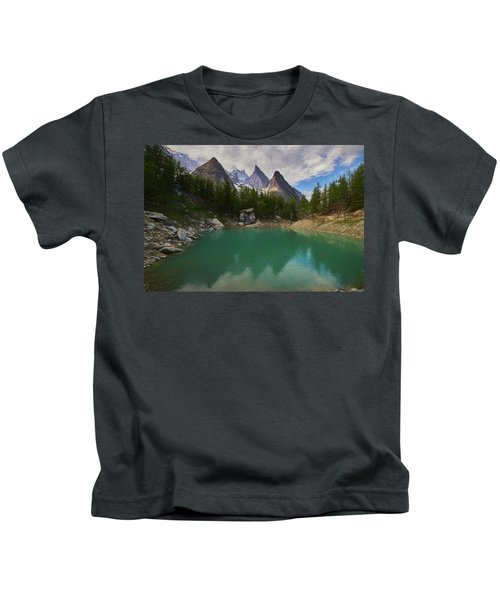 Lake Verde In The Alps II Kids T-Shirt