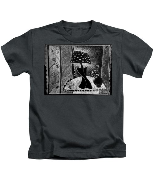 Lamp And Flowers. Kids T-Shirt