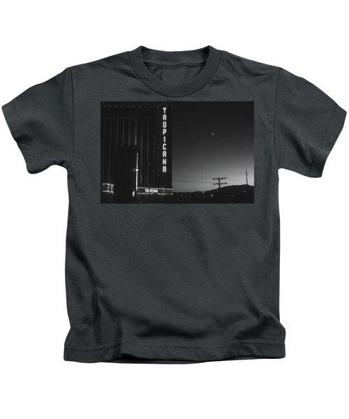 Las Vegas 1984 Bw #1 Kids T-Shirt