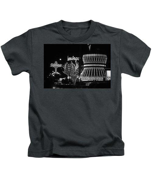 Las Vegas 1984 Bw #2 Kids T-Shirt