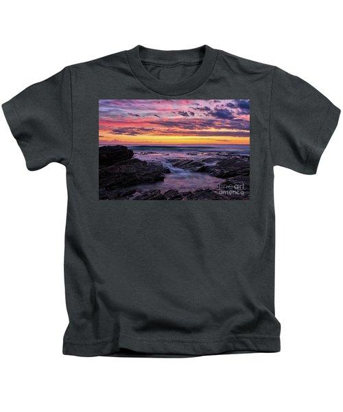 Last Sunset Of 2018 Kids T-Shirt