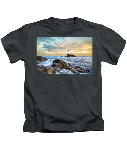 Lighthouse In Ahtopol, Bulgaria Kids T-Shirt