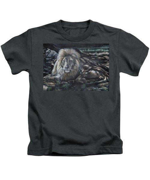 Lion In Dappled Shade Kids T-Shirt