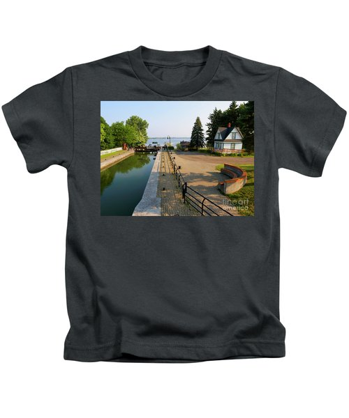 Lock 3 On The Chambly Canal In Chambly Quebec Kids T-Shirt