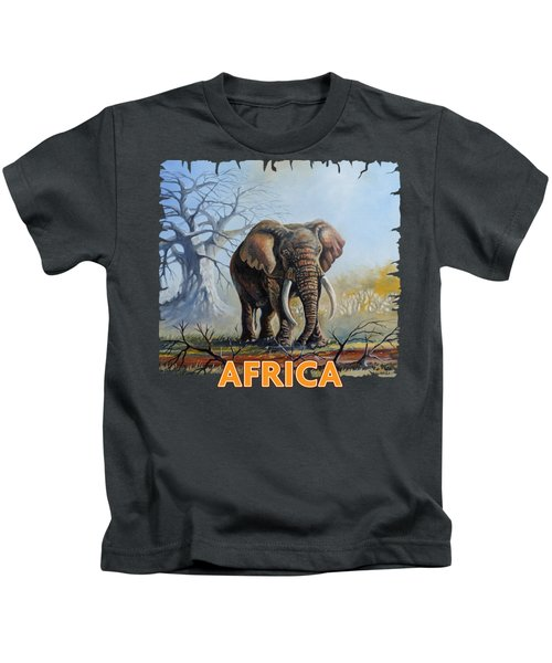 Lone Elephant Browsing Kids T-Shirt