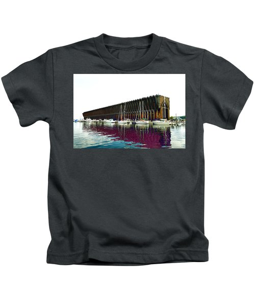 Lower Harbor Ore Dock At Marquette Michigan. Kids T-Shirt