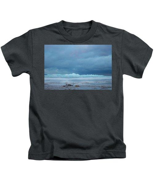Mackinaw City Ice Formations 21618011 Kids T-Shirt
